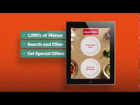 iPad Restaurant Food Delivery App: Order Food Online With Seamless for iPad