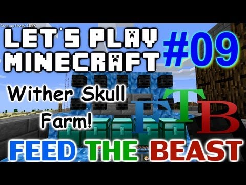 Let's Play Minecraft FTB Ep. 9 - Wither...