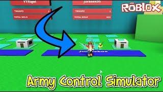 🤺🏹 We own an army!! + CODES 🏹🤺/ROBLOX/Army Control Simulator/jurasek05