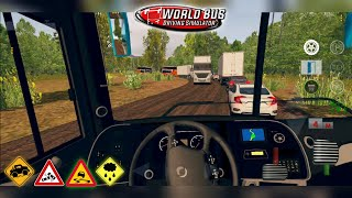 World Bus Driving Simulator - Suspension Test on Mud/Dirt Road with 8x2 Bus GamePlay screenshot 4