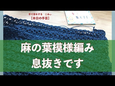 麻の葉模様編み 息抜きです【本日の手芸】today's handicraft