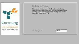 CorreLog Windows Agent Installation