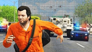 GTA 5 - 1,000 STAR WANTED LEVEL!! (Can We Escape?)