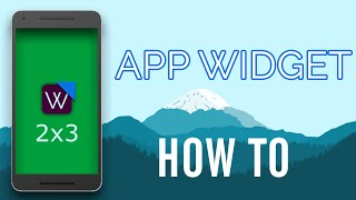 How to make Android Application Widget in Android Studio