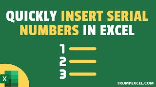 7 Quick & Easy Ways to Number Rows in Excel