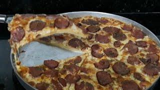 DELICIOSA PIZZA DE LIQUIDIFICADOR SUPER FÁCIL DE FAZER (Igual a da pizzaria)