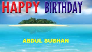 AbdulSubhan   Card Tarjeta - Happy Birthday