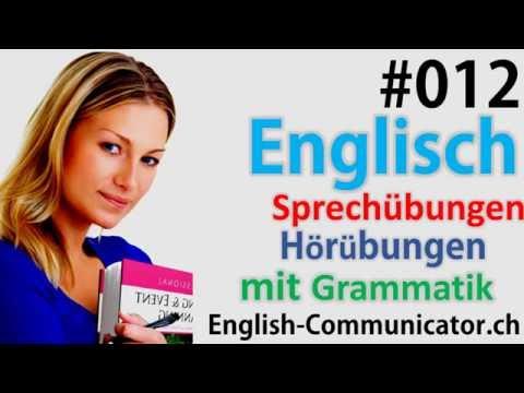 #12 Englisch grammatik für Anfänger Deutsch English Sprachkurse  Clock,Datum,Duden,Lautschrift,