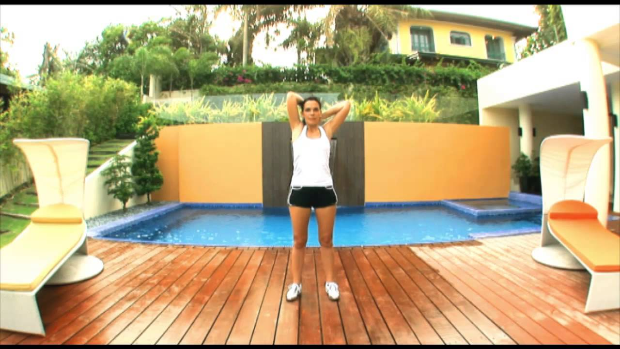 Exercice 2 - Pour retendre la peau derrière les bras (triceps) -- Les  triceps avec haltères - YouTube 90156a18132