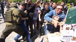 Конфликты, георгиевские ленты и 15 задержанных на Аллее Славы