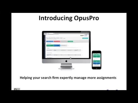 Set up and manage an optimal executive search process with OpusPro