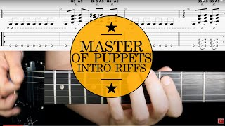 Guitar Lesson & TAB: Master of Puppets by Metallica - How to play Intro
