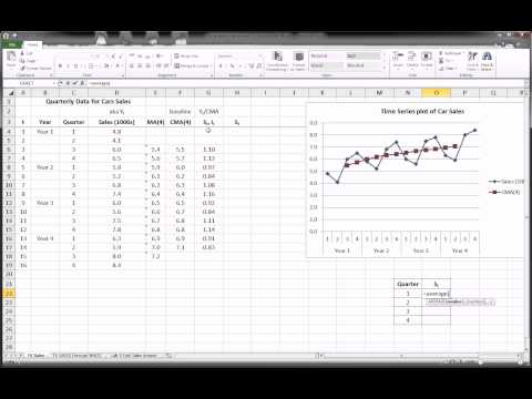 Excel - Time Series Forecasting - Part 2 of 3