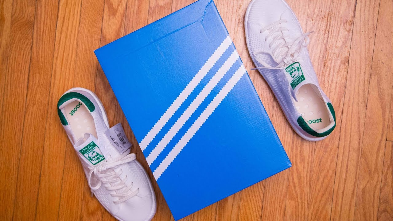 1b047b079d31f Adidas Stan Smith Boost PK  Primeknit  Review and On Feet - YouTube