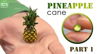 Полимерная глина - колбаска чешуйка АНАНАСА  / Pineapple from polymer clay (Cane)
