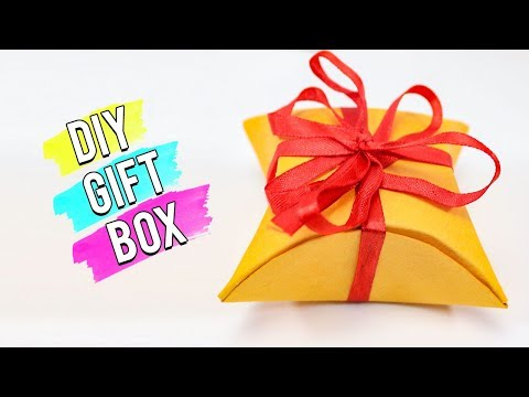 Easy DIY Gift Box Making With Paper And Ribbon.