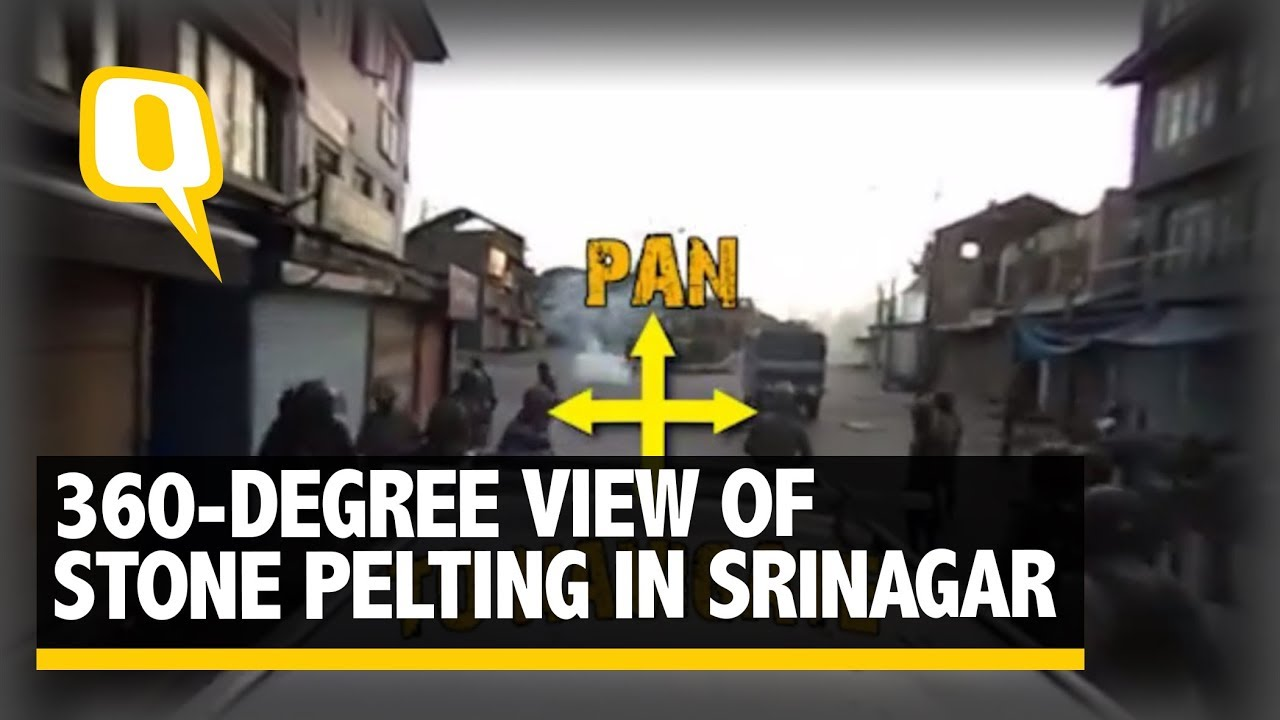 The Quint: Exclusive: A 360-Degree View of Stone Pelting in Srinagar