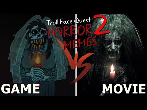 Troll Face Quest.EXE - Horror 2   GAME VS MOVIE