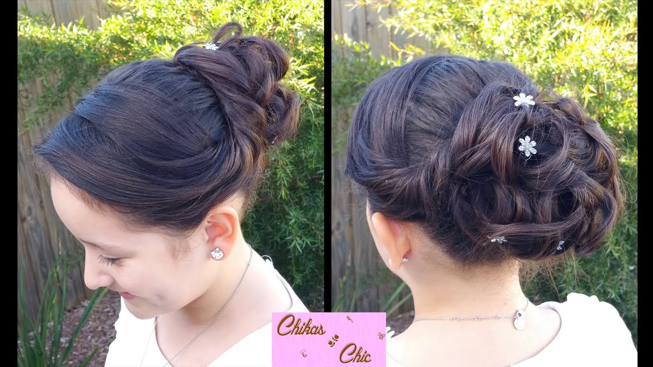 pin-up curly updo!   prom hairstyles   updo   buns - youtube