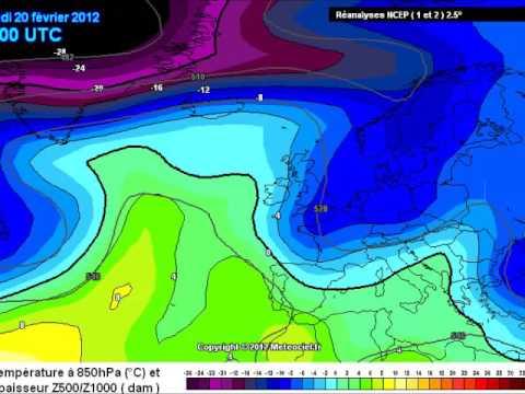 Febbraio 2012 Mappe A Temperatura 850 HPA, 1500 Mt  Di Quota Circa. Sigla Meteo 2 Anni 80