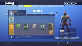 Fortnite Battle Royale SEASON 4 BATTLE PASS | TIER 100 SKIN | NEW GLIDERS, SPRAYS, EMOTES