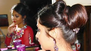 how to make indian hair styles indian bridal juda updo hairstyle tutorial duration 7 01 8791