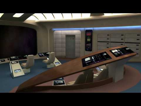 RELAX ON BOARD STARSHIP ENTERPRISE TRAVELLING THROUGH SPACE