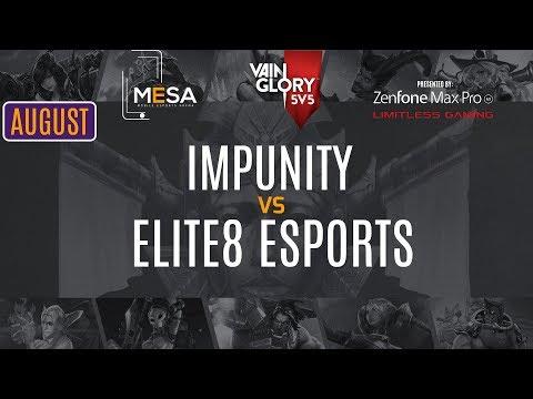 MeSA Vainglory August 2018: Impunity Vs ELITE8 Esports