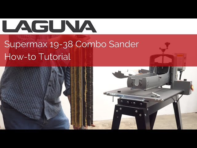 Supermax 19-38 Combo Sander How To Tutorial | Laguna Tools