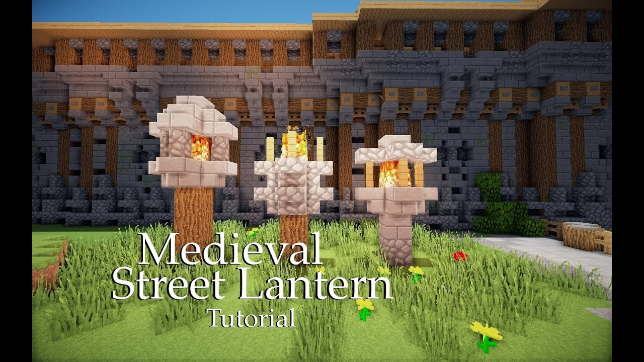 minecraft street lantern tutorial