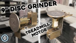 Disc Grinder From a Free Treadmill Motor (Multi Position)
