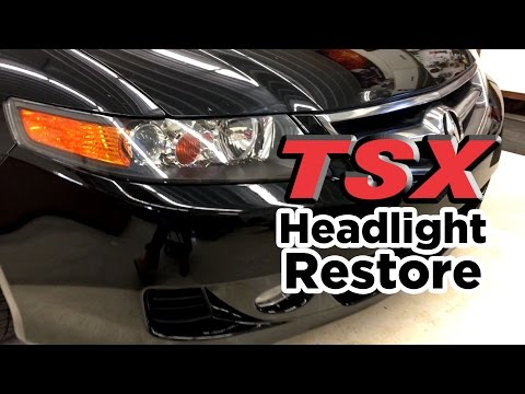 DIY: Acura TSX Plastic Headlight Restore
