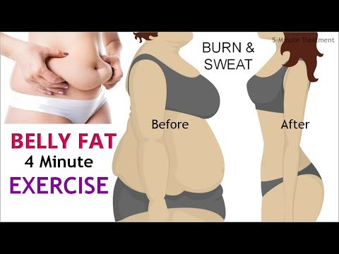 4 Minute Belly Fat Blasting Exercises at Home - No Equipment  5-Minute Treatment