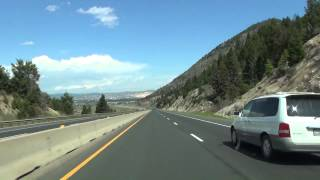 I-90 over Homestake Pass and the Continental Divide in Montana