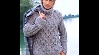 Мужской Джемпер-Свитер Спицами - 2019 / Men's Cardigan Sweater-spokes /Pullover-Speichen