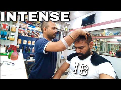 ASMR Intense head massage with neck cracking By Indianbarber Naulesh ( Description)