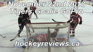 November 22nd 2018 Tigers Hockey Goalie GoPro