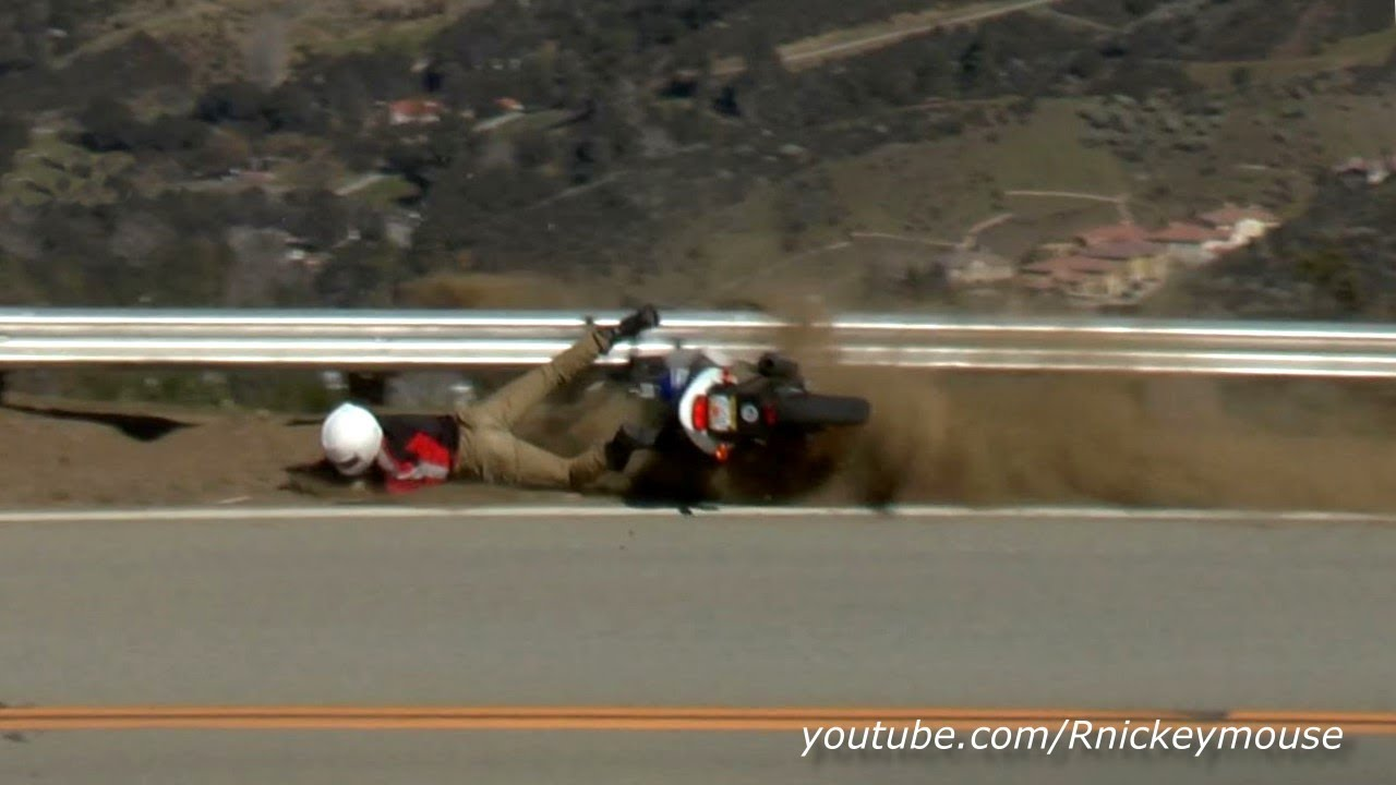 Ouch hard hit guardrail motorcycle crash youtube