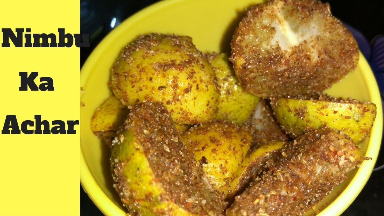Lemon Pickle Recipe Nimbu Achar Recipe Nimbu Ka Meetha Achar