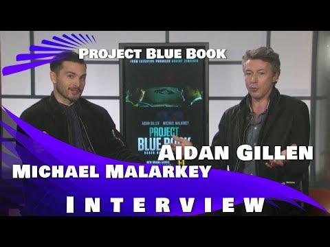 PROJECT BLUE BOOK - AIDAN GILLEN & MICHAEL MALARKEY INTERVIEW