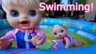 BABY ALIVE Audrey Swims With Layla! Baby Alive Videos