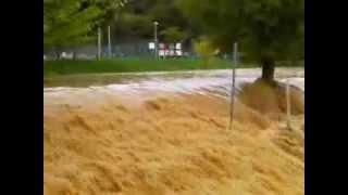 Inondation 2013, lac de Champos