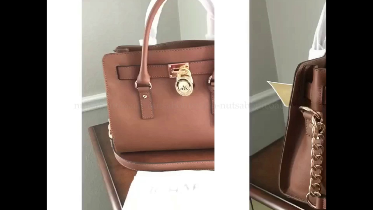 b9ec9b9470d3 MICHAEL KORS SAFFIANO LEATHER EAST WEST MEDIUM HAMILTON SATCHEL SHOULDER BAG -LUGGAGE