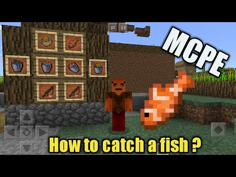 How to make a fish bucket in minecraft pe