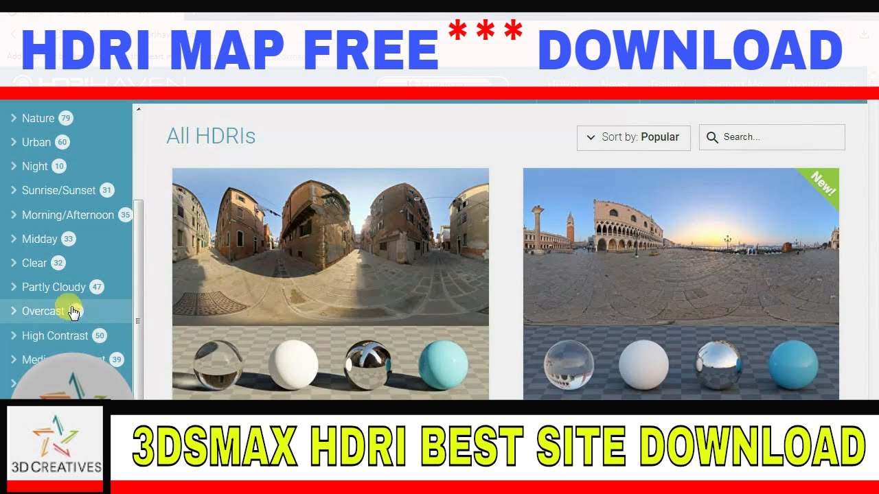 Hdri free map download & import in 3ds max