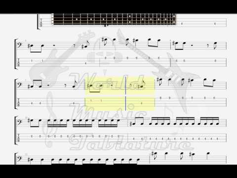 Dirty Magic   Song2 BASS GUITAR TAB