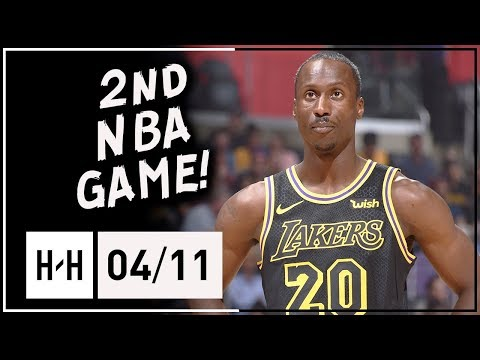 Andre Ingram 2nd NBA Game Full Highlights vs Clippers (2018.04.11) - 5 Pts, 6 Assists off the Bench