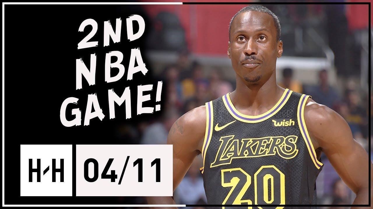c9c4b3b0e Andre Ingram 2nd NBA Game Full Highlights vs Clippers (2018.04.11) - 5 Pts