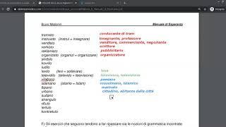 Corso di esperanto per italofoni. Lezione 15 (parte 2). 16/06/2020.