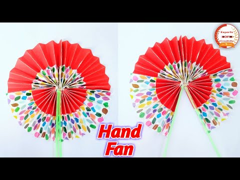 DIY Paper Craft | How To Make DIY Hand Fan Out Of Color Papers | Chinese Hand Fan Making | Origami